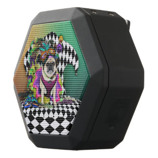 Pugsgiving Mardi Gras 2015 - Lucy - Pug Black Bluetooth Speaker