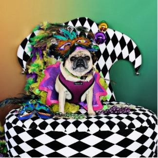 Pugsgiving Mardi Gras 2015 - Lucy - Pug Statuette