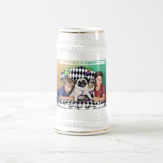 Pugsgiving Mardi Gras 2015 - Missy & Olive - Pugs Beer Stein