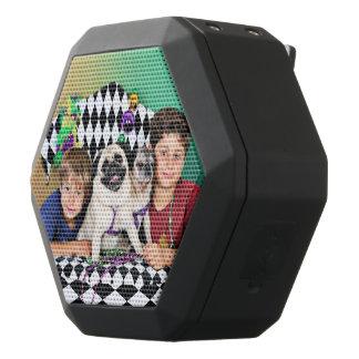 Pugsgiving Mardi Gras 2015 - Missy & Olive - Pugs Black Bluetooth Speaker