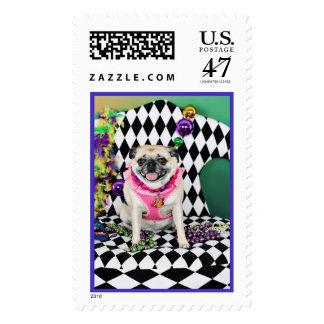 Pugsgiving Mardi Gras 2015 - Misty - Pugs Postage