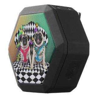 Pugsgiving Mardi Gras 2015 - Moose & Maggie - Pugs Black Bluetooth Speaker