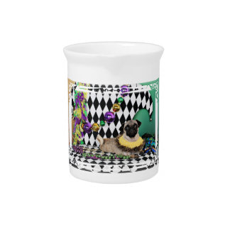 Pugsgiving Mardi Gras 2015 - Rooby - Pug Beverage Pitcher