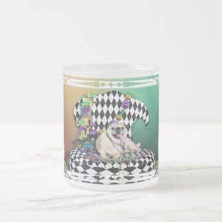 Pugsgiving Mardi Gras 2015 - Stanley - Pug Frosted Glass Coffee Mug