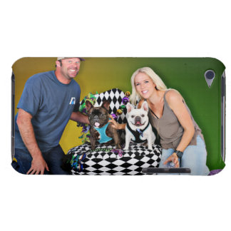 Pugsgiving Mardi Gras 2015 - Tux & Homer Frenchies iPod Touch Cover