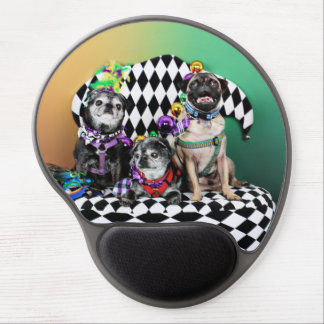 Pugsgiving Mardi Gras 2015 - Wendy Madison Nelson Gel Mouse Pad
