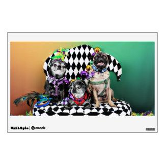 Pugsgiving Mardi Gras 2015 - Wendy Madison Nelson Wall Sticker