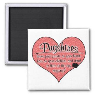 Pugshire Paw Prints Dog Humor Magnets