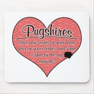 Pugshire Paw Prints Dog Humor Mouse Pad