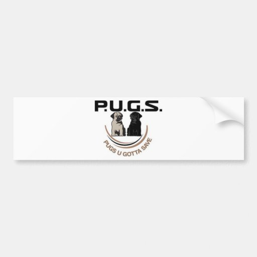PUGSLogoPaidFinal500Percent.jpg Pegatina Para Auto