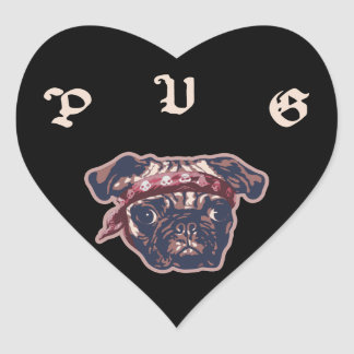 Pugsta Heart Sticker