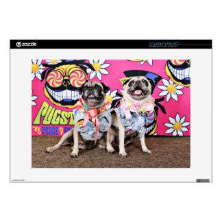 "Pugstock 2015 - Lulu Coco - Pugs 15"" Laptop Decals"
