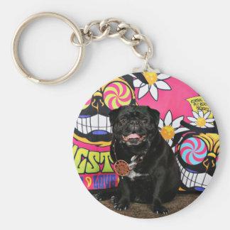 Pugstock 2015 - Odie - Pugs Basic Round Button Keychain