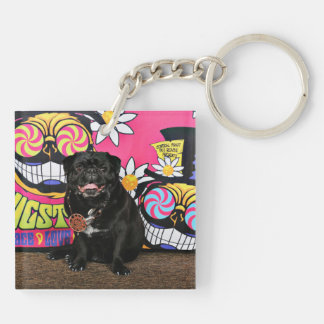 Pugstock 2015 - Odie - Pugs Double-Sided Square Acrylic Keychain
