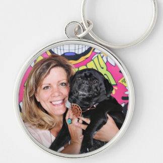 Pugstock 2015 - Odie - Pugs Silver-Colored Round Keychain
