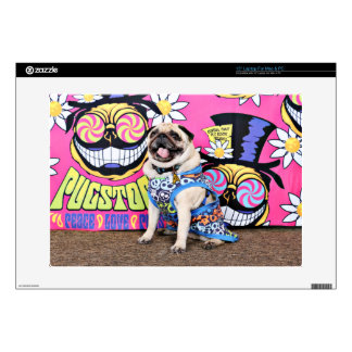 Pugstock 2015 - Pickles - Pug Decals For Laptops