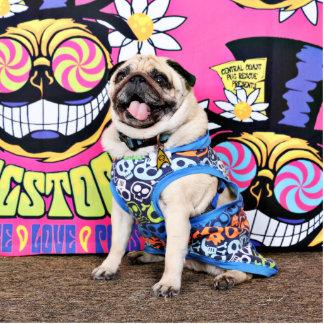 Pugstock 2015 - Pickles - Pug Standing Photo Sculpture