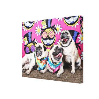 Pugstock 2015 - Sampson Oscar Madden - Pugs Canvas Print