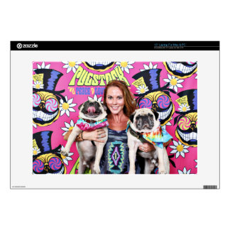"Pugstock 2015 - Sampson Oscar Madden - Pugs Decal For 15"" Laptop"