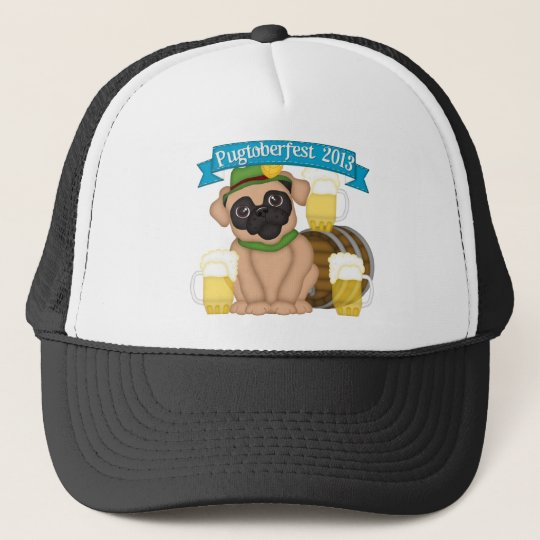 Pugtoberfest 2013 #2 - Please add text Trucker Hat