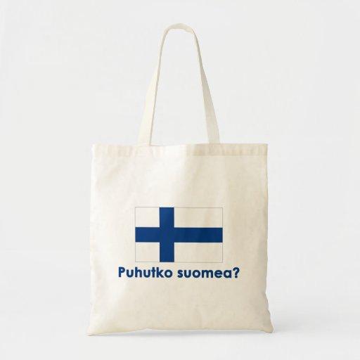 ¿Puhutko Suomea? (Hable finés?) Bolsa Tela Barata