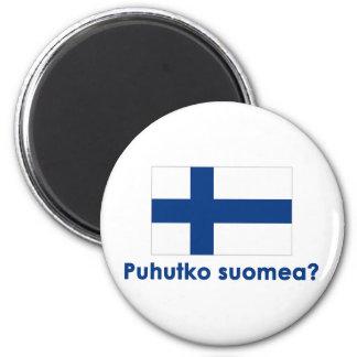 Puhutko Suomea? (Speak Finnish?) 2 Inch Round Magnet