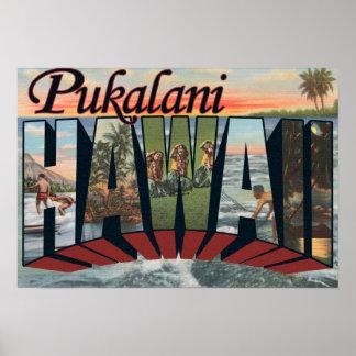Pukalani, Hawaii - escenas grandes de la letra Póster