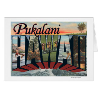 Pukalani, Hawaii - escenas grandes de la letra Tarjeta De Felicitación