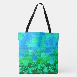 Pukana Hawaiian Pineapple Sunset Blend Beach Bag Tote Bag