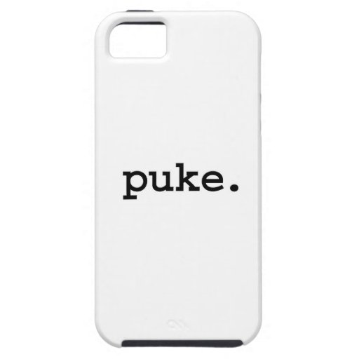 puke. iPhone 5 cárcasa