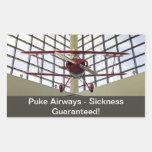 Puke las vías aéreas - Special de Pitts Rectangular Pegatina
