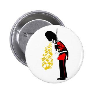 Puke Royal Guard Pinback Button