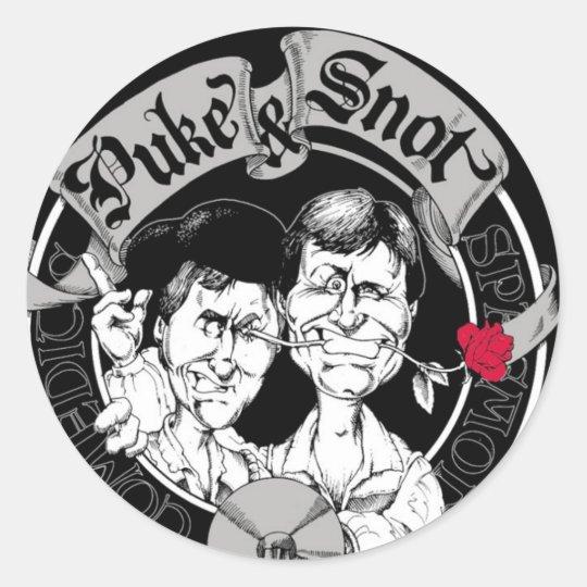 Puke & Snot Magaga Classic Round Sticker