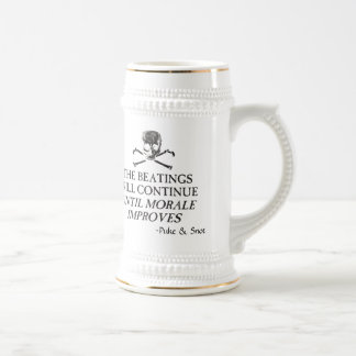 """Puke & Snot  """"The Beatings Will Continue"""".... 18 Oz Beer Stein"""