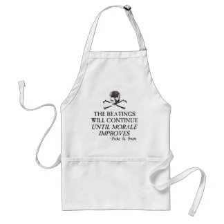 """Puke & Snot  """"The Beatings Will Continue"""".... Adult Apron"""