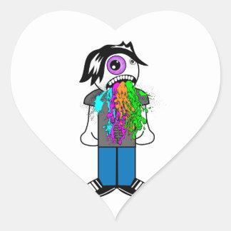 Puke Heart Sticker
