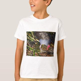 Pukeko and Chick Splashing T-Shirt