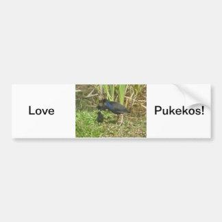 Pukeko and Chicks Bumper Sticker