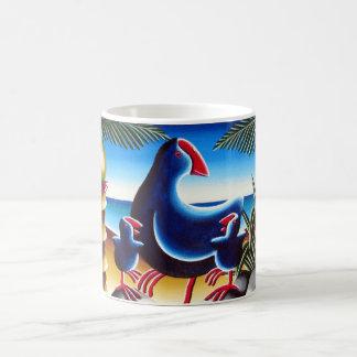 Pukekos & Nikau Classic White Coffee Mug