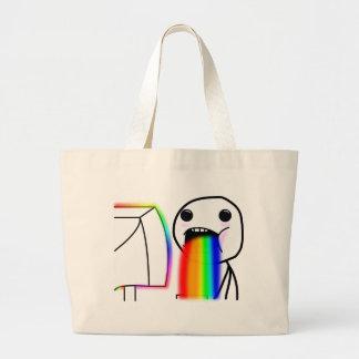 Pukes los arco iris bolsa tela grande