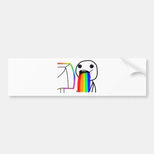 Pukes los arco iris pegatina para auto
