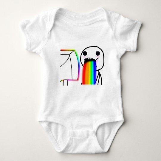 Pukes Rainbows Baby Bodysuit