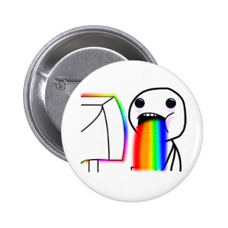Pukes Rainbows Pinback Button