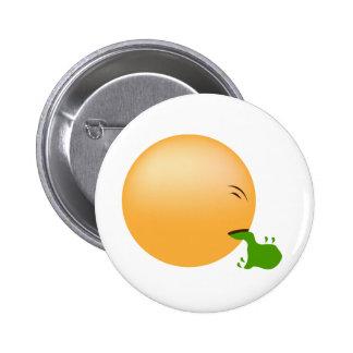 Puking Emoji Pinback Button