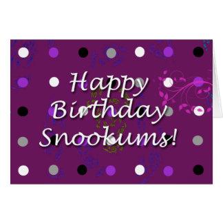 Puking Purple Polka Dots! Card