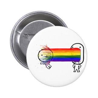 puking rainbow meme pinback button