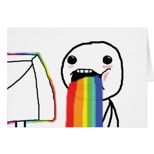 Puking Rainbows Greeting Card