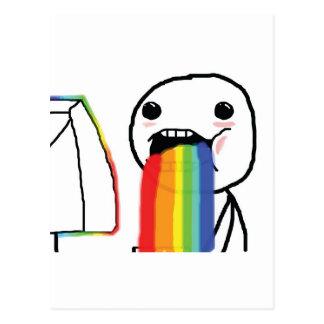 Puking Rainbows Postcard