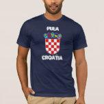 Pulas, Croacia con el escudo de armas Playera
