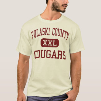Pulaski County - Cougars - High - Dublin Virginia T-Shirt
